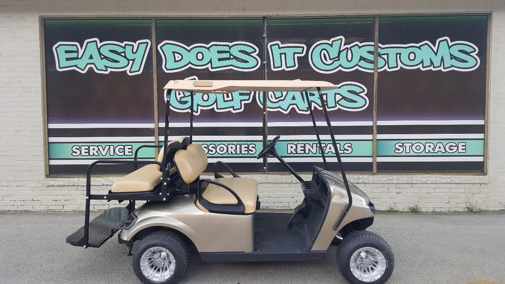 2015 Electric EZGO TXT Golf Cart with New Almond Body