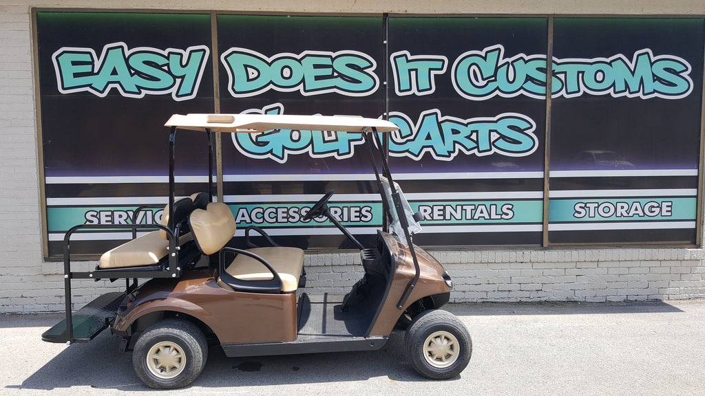 2014 Electric EZGO TXT Golf Cart with New Mocha Body - SOLD!
