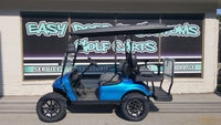 2014 EZGO TXT Electric Golf Cart with Custom Blue Flame Body - SOLD