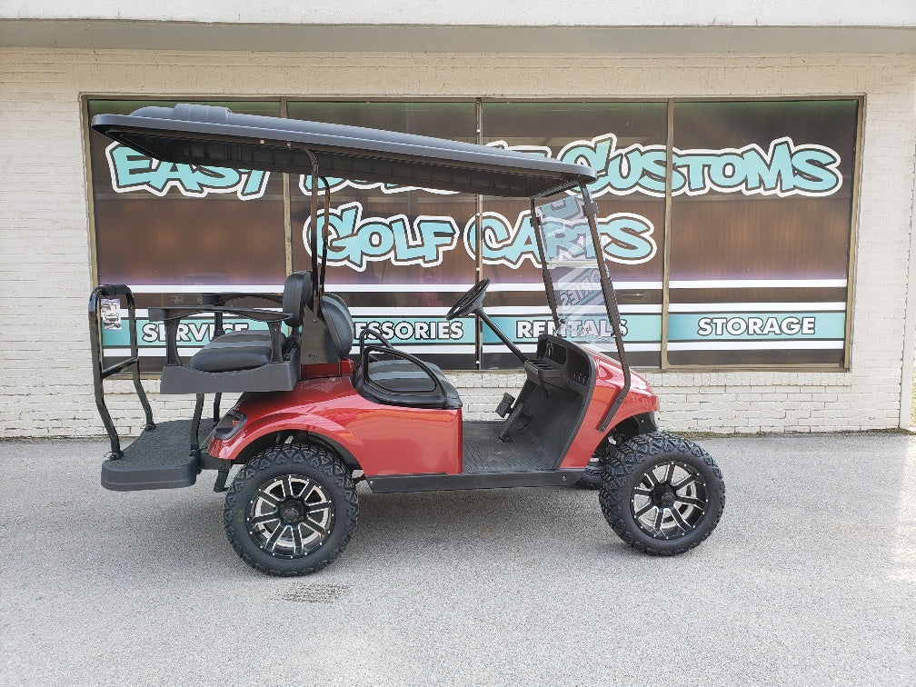 2015 EZGO TXT ELECTRIC GOLF CART WITH NEW INFERNO RED BODY *SOLD*