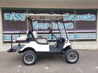 2014 Yamaha Drive G29 - White Lifted Gas Golf Cart