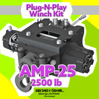 KFI AMP-25 Assault 2500 lb Polaris Plug-N-Play Winch