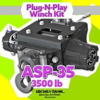 KFI ASP-35 Assault 3500 lb Polaris Plug-N-Play Winch