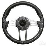 "RHOX 13"" Diameter Aviator 4 Steering Wheel for EZGO, Club Car, and Yamaha Golf Carts - 7 colors to choose from"