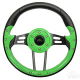"RHOX 13"" Diameter Aviator 4 Steering Wheel for EZGO, Club Car, and Yamaha Golf Carts - 8 colors to choose from"