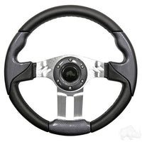 Steering Wheel - Aviator 5 Brushed Aluminum Spokes, 13