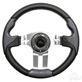 "Steering Wheel - Aviator 5 Brushed Aluminum Spokes, 13"" Diameter"