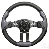 "Steering Wheel - Aviator 5 Black Spokes, 13"" Diameter"