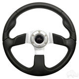 "Formula GT Steering Wheel, Black Grip 13"" Diameter"