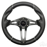 "Challenger Steering Wheel, Black Grip 13"" Diameter"