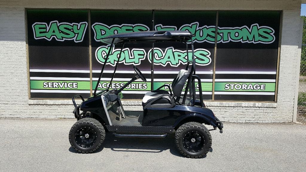 Club Car DS Golf Cart with New Black Body - Electric - SOLD!