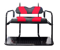 DS TWO TONE REAR FLIP SEAT  BLACK W/RED STRIPE
