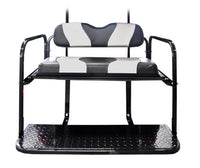DS TWO TONE REAR FLIP SEAT BLACK W/SILVER STRIPE