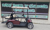 2012 EZGO RXV Electric Golf Cart with New Burgundy Body *SOLD*