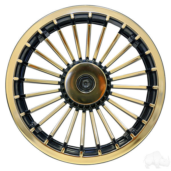 "8"" Turbine Black and Gold Wheel Cover"