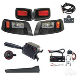 Build Your Own EZGO TXT 96-13 Adjustable Halogen Light Kit Street Package