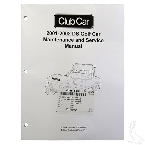 Club Car DS 01-02 Maintenance & Service Manual
