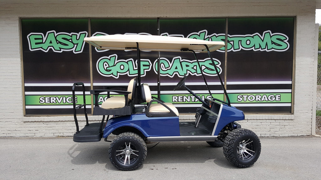 2006 Gas Club Car DS 4 Passenger Golf Cart with Navy Metallic Body - SOLD