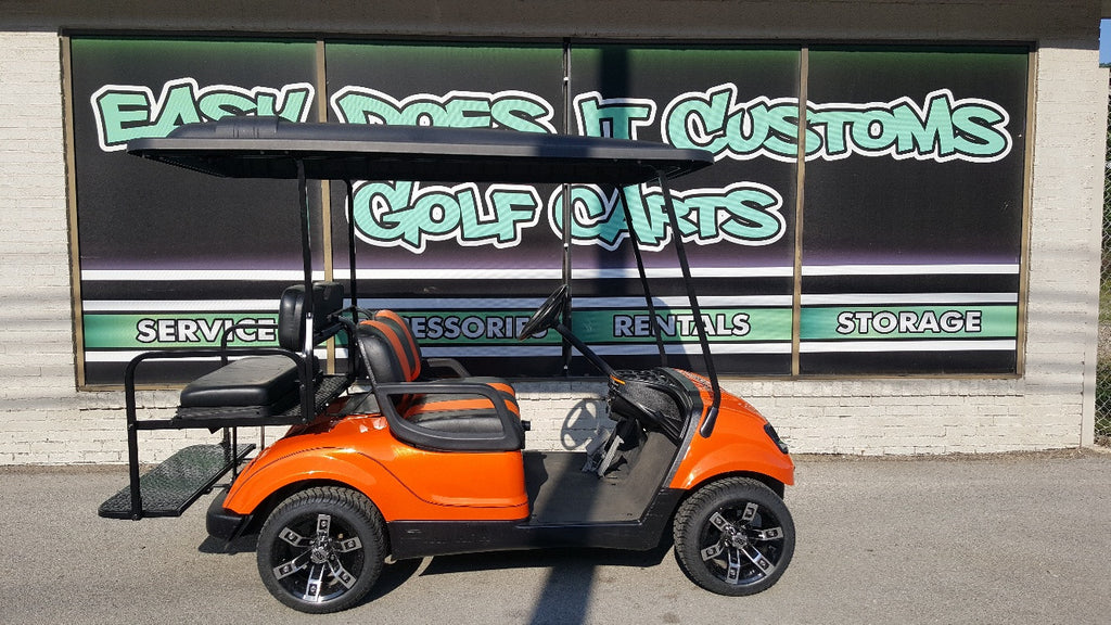 2010 Gas Yamaha Drive Golf Cart - Orange and Black - SOLD