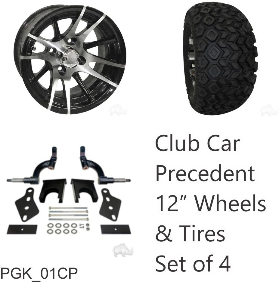 Rhox 23 Tire 12 Wheel And 6 Lift Kit Combo For Club Car