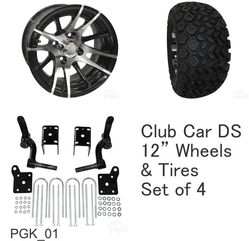 Club Car Ds Golf Cart 6 Rhox Lift Kit Combo Package 12 Wheels With