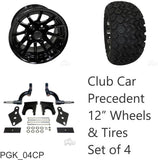 "RHOX 23"" Tire, 12"" Wheel and 6"" Lift Kit Combo for Club Car Precedent Golf Cart"