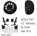 "RHOX 23"" Tire, 12"" Wheel and 6"" Lift Kit Combo Package for EZGO TXT Golf Cart"