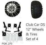 "RHOX 23"" Tire, 12"" Wheel and 6"" Lift Kit Combo Package for Club Car DS Golf Cart"