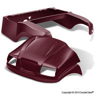 DoubleTake Phantom Golf Cart Body Kit For Club Car Precedent Burgundy