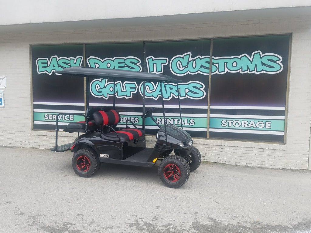 EZGO TXT Valor Gas Golf Cart - Black and Red - SOLD