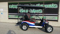 2012 Electric EZGO Red, White, and Blue Golf Cart - SOLD!