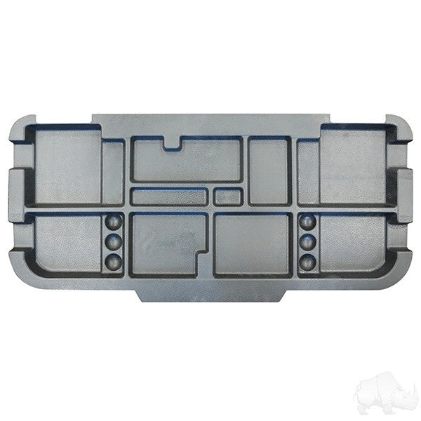 EZGO RXV Electric Only, Black Underseat Storage Tray