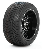 "STI HD4 GLOSS BLACK 12"" WHEEL AND SLASHER GFX 215/40-12 DOT TIRE COMBO - SET OF 4"