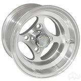 "RHOX Indy Machined 10"" Aluminum Golf Cart Wheels"