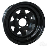 12x7.5 Black Steel Wheel