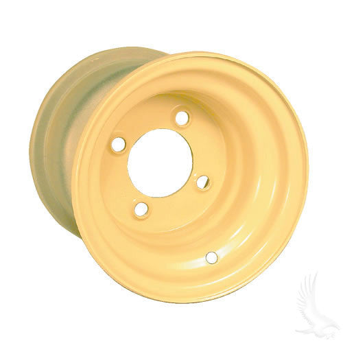 "RHOX Beige 8"" Offset Steel Golf Cart Wheels"