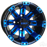 RHOX Vegas, Black w/ Blue w/ Center Cap, 10x7 ET-25