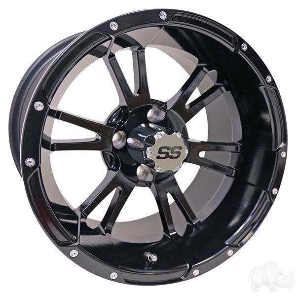 RHOX RX341, Black w/ Center Cap, 14x7 ET-25