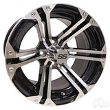 RHOX RX350, Machined w/ Black w/ Center Cap, 14x7 ET-25