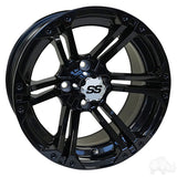 RHOX RX354 Gloss Black w/ Chrome Center Cap, 14x7 ET-25