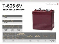 Trojan T605 Golf Cart Battery at Easy Does It Customs