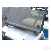 RHOX Tinted Acrylic Split Golf Cart Windshield Club Car DS Installed