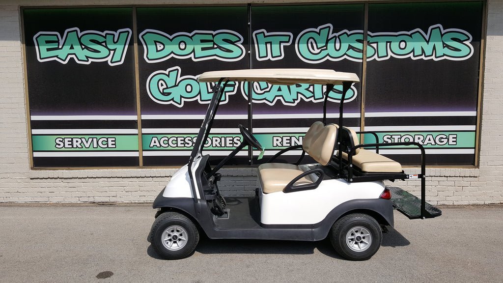 2013 Electric Club Car Precedent Golf Cart - White - SOLD