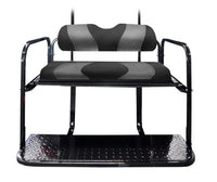DS TWO TONE REAR FLIP SEAT BLACK W/ DK GRAY CARBON STRIPE