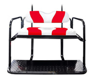 DRIVE TWO TONE REAR FLIP SEAT  WHITE W/RED STRIPE