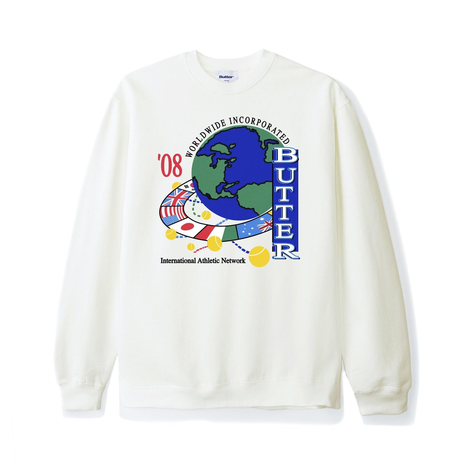 Athletic Network Crewneck, Bone