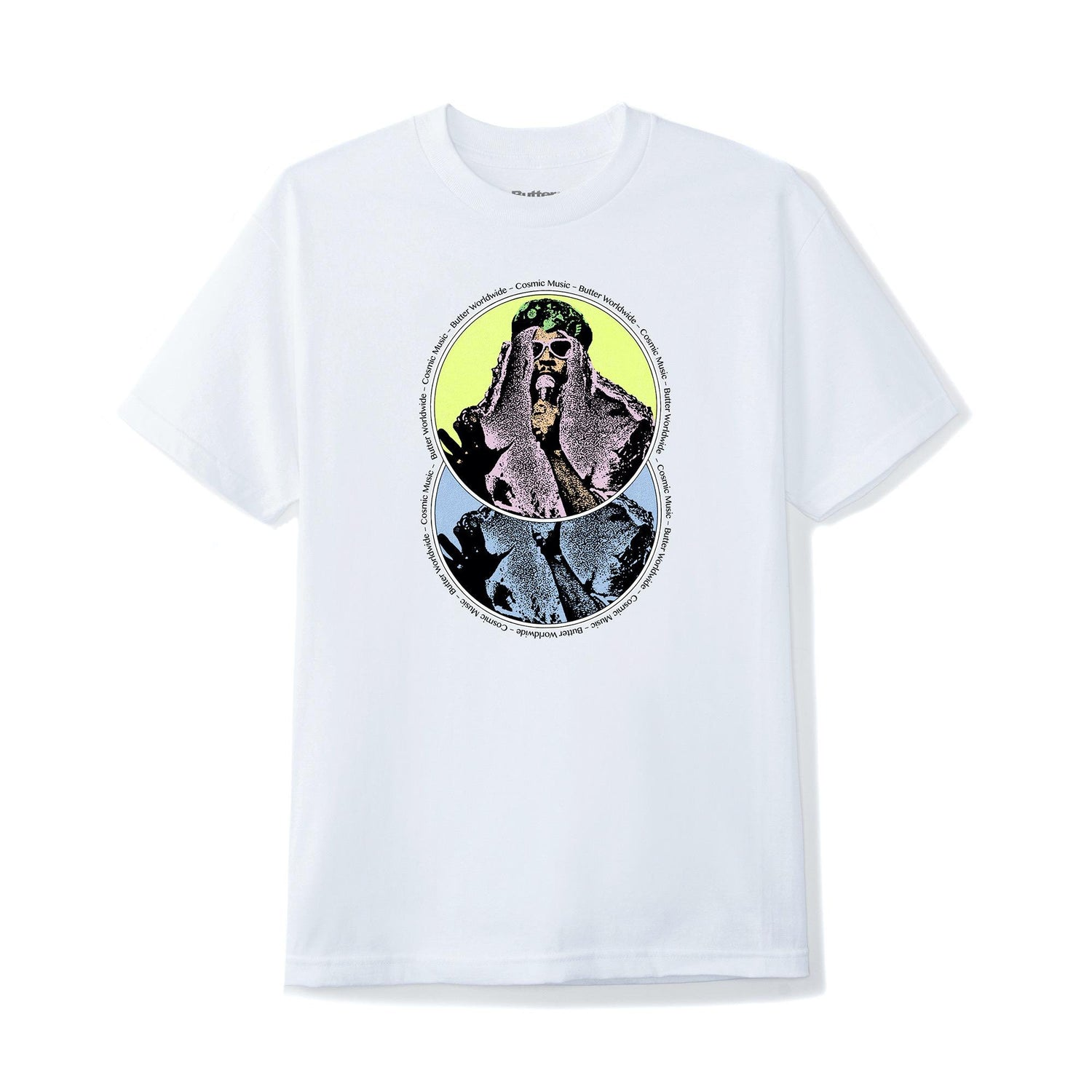 Cosmic Music Tee, White