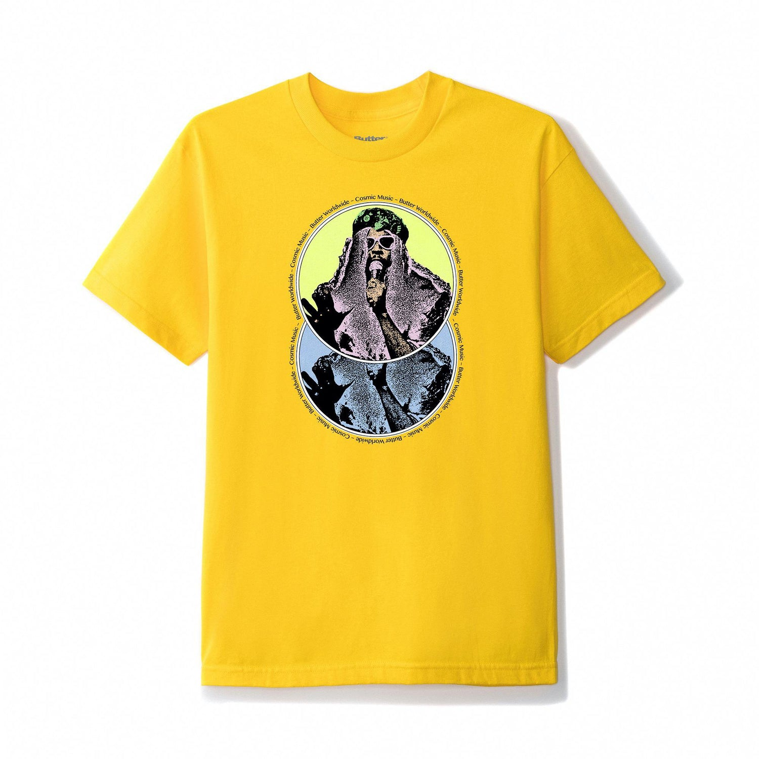 Cosmic Music Tee, Yellow