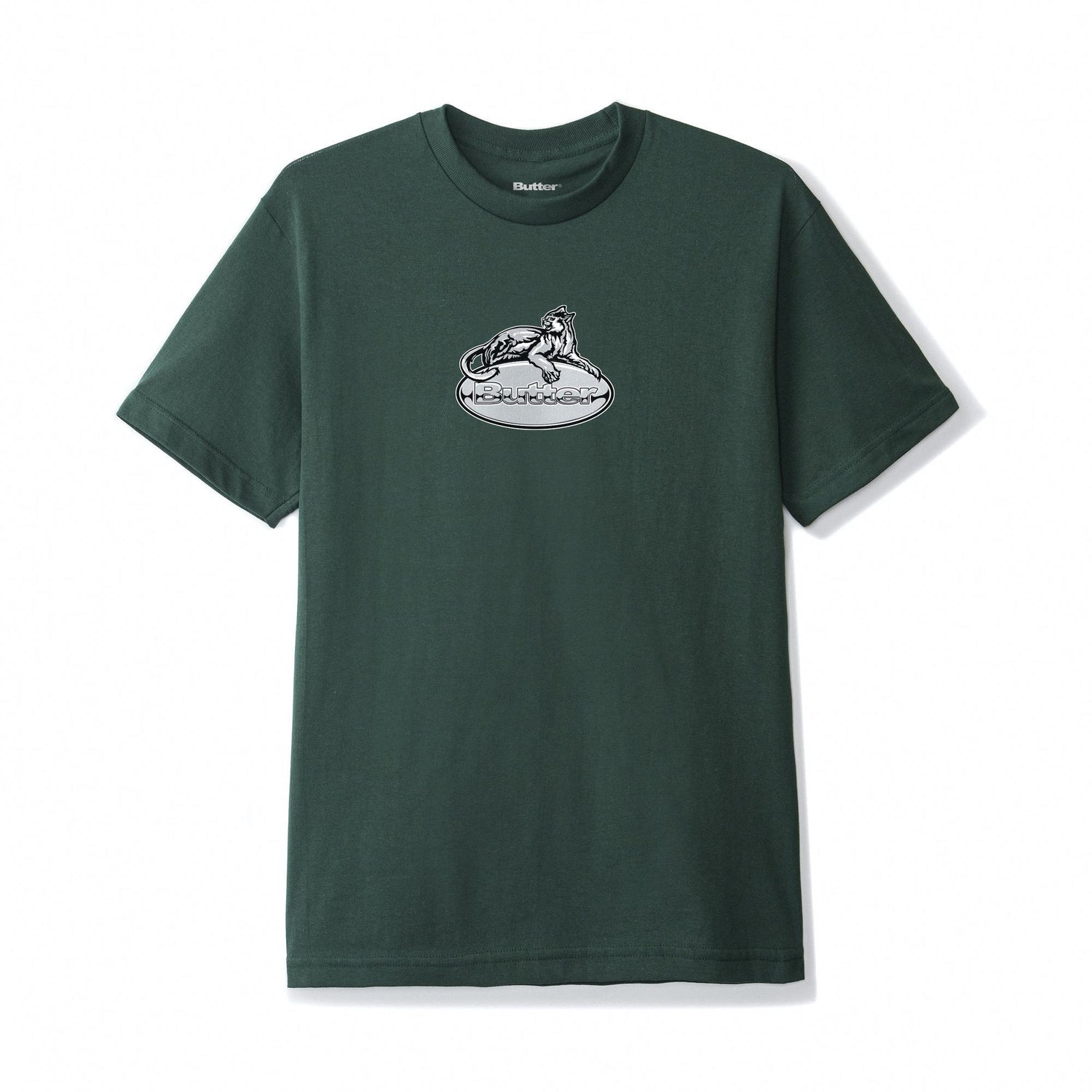 Cougar Badge Logo Tee, Forest