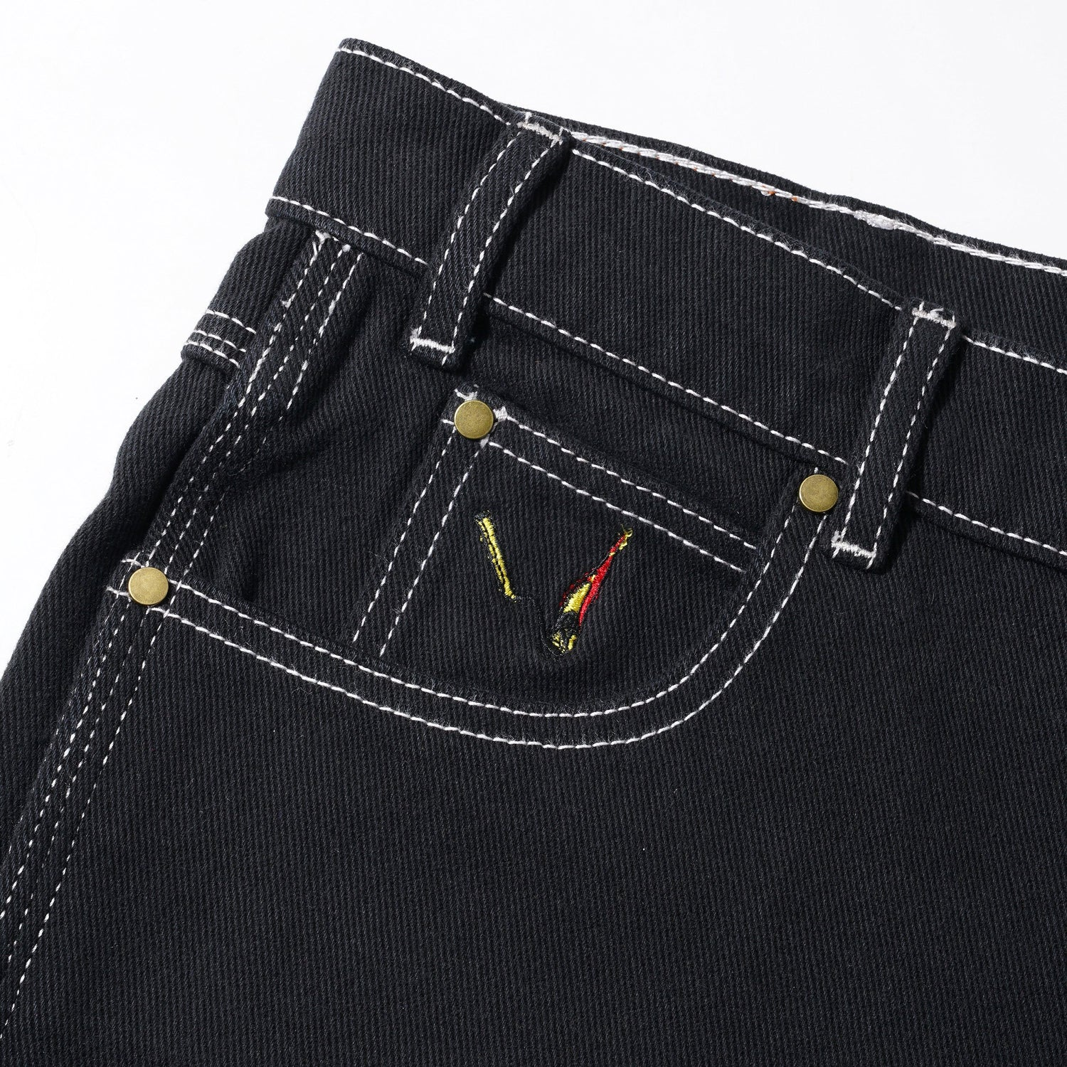 Overdye Denim Work Pants, Black